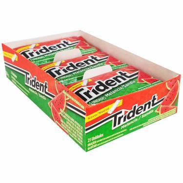 Chiclete Trident Melancia Mondelez 21 Unidades 1003338