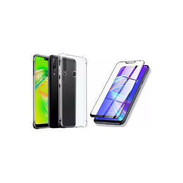 Kit Pelicula 3d Vidro Temperado E Capa Case Transparente Para Asus Zenfone Max Shot Zf634 6.2 Polegadas