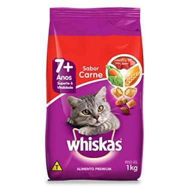 Ração Para Gatos Whiskas Carne Adultos Sênior 7+ Anos 1kg