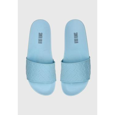 Rasteira Slide Santa Lolla Texturizada Azul Santa Lolla 0323.2AA6.0016.01C3 feminino