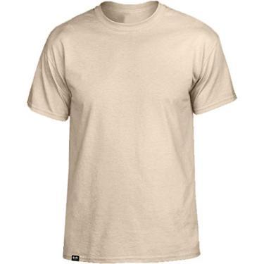 Camiseta Básica de Algodão Masculina Slim Tee T-Shirt – Slim Fitness Fashion - Bege – EGG