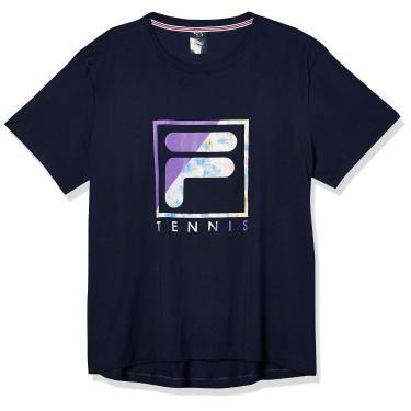 Camiseta Soft Urban Acqua, FILA, Feminino, Marinho/Violeta/Estampado, GG