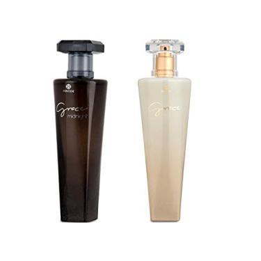 Imagem de Kit Perfume Feminino Grace Midnight E Grace Branco Hinode
