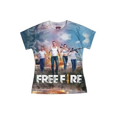 Camiseta Baby look Feminina Free Fire md01