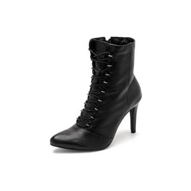 Bota Sandalo Feminina Clave De Fa Elis Preta  feminino