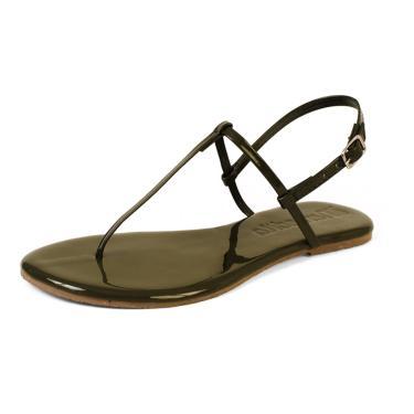 Sandália Rasteira Mercedita Shoes Verniz Verde Militar Ultra Macia AREIA, GELO, BORGONHA ,CARAMELO, LAVANDA, AZUL MARINHO, AZUL DENIN, MARSALA, OPALA, PRETO, UVA, VERDE ÁGUA, PRATA, DOURADA feminino