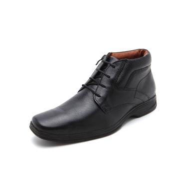 Sapato Social Couro Ferracini Liso Preto Ferracini 3443-562G masculino
