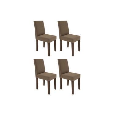 Jogo Com 4 Cadeiras para Sala de Jantar Giovana Castanho New Ceval VL 01