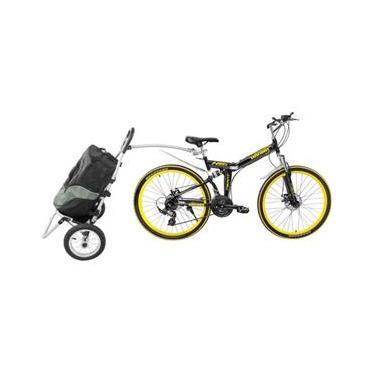 Trailer em alumínio com mochila para compras pra Bicicleta  - Bicimoto