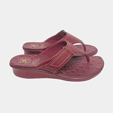 Sandália de Dedo Malu Super Comfort Cléo Feminino Marasca 39