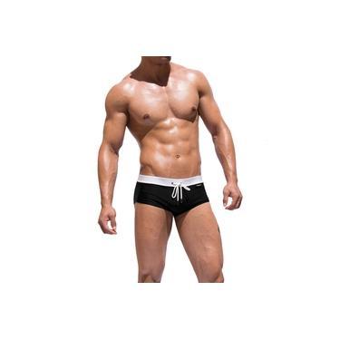 Sunga Marca Ferzon Modelo Rio Boxer/Trunk Masculino Cor Preto Branco Adulto