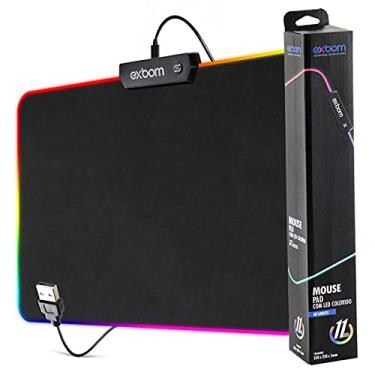 Mouse Pad Gamer Led Rgb 7 Cores 30x80cm Extra Grande