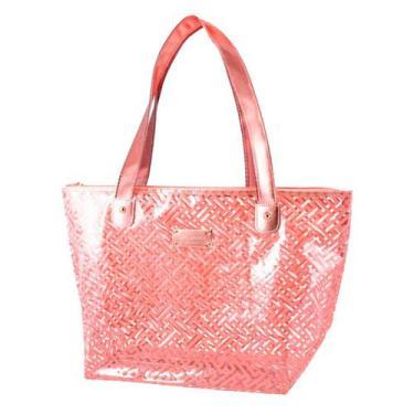 Imagem de Bolsa Shopper Rosa Transparente Diamantes Jacki Design
