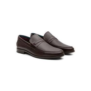 76f9123a02 Sapato Mocassim Masculino Osbo Nova York Confortável Couro Café