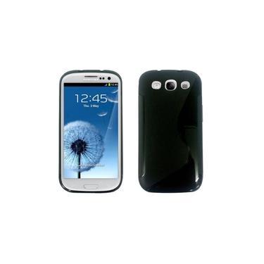 Capa para Smartphone Smart Company Galaxy S3 Transparência, Preta