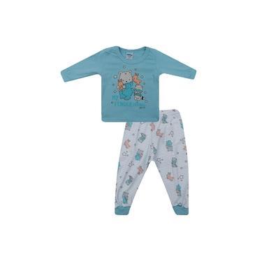 Pijama Masculino Bebê Malha Ursinho