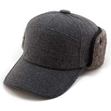 Boné de beisebol masculino de lã/algodão/jeans, unissex, para caça, pai, chapéus esportivos, 67134_gray, Large