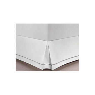 Imagem de Saia Para Cama Box King Ponto Palito 100% Algodão - Casa&Conforto