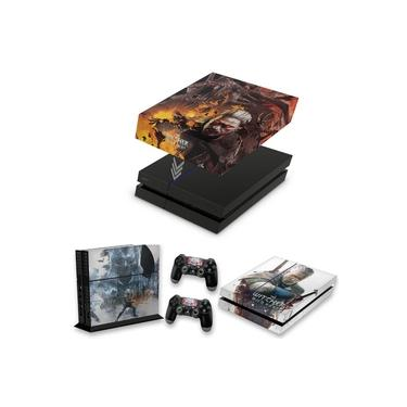 Capa Anti Poeira e Skin para PS4 Fat - The Witcher #B
