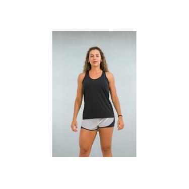 Regata Feminina Fitness Preta Classic