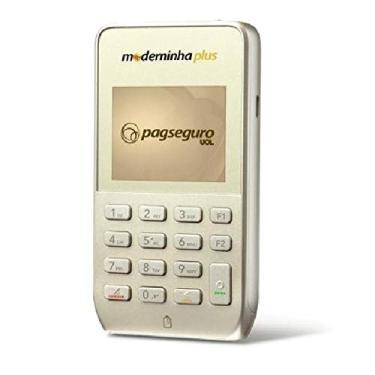 Moderninha Plus maquininha de cartão sem aluguel, conexão Wifi, Chip e Bluetooth