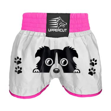 Calção Short Muay Thai Kickboxing Dog Branco - M