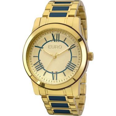 842a456d156 Relógio Feminino Euro Analógico Fashion Eu2035yei 5a Dourado