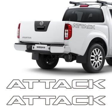 Imagem de Kit Faixas/adesivos Attack Nissan Frontier 2013 PRETO
