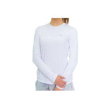e6277ecf13 Camiseta Proteção Solar Uv Dry Manga Longa Feminina Branca