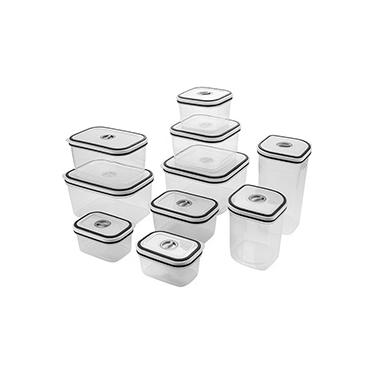 Conjunto de Potes Herméticos para Cozinha com Tampa 10 Peças - Electrolux