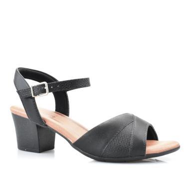 Sandália Feminina Napa Casual Conforto Comfort Flex 57404  Comfortflex Preto  feminino