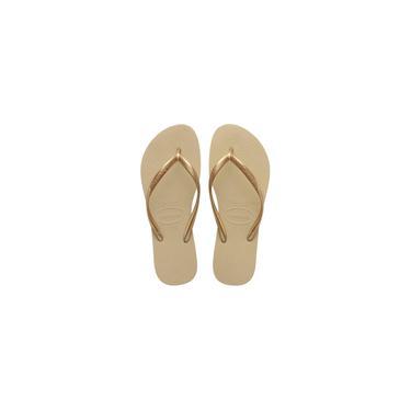 Imagem de Chinelo havaianas feminino slim 33/4 areia/dourado havaianas par