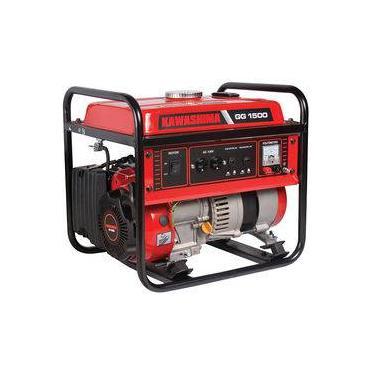 Gerador De Energia Portátil A Gasolina 4T 1500Kw 220V Kawashima Gg1500