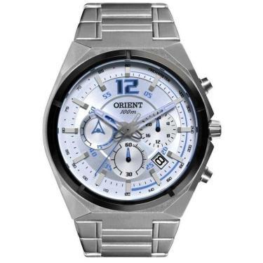 4e0bd3e158c Relógio Masculino Orient Cronografo Mbssc132 Sasx - Prata