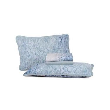 Jogo de Cama Queen Altenburg Blend Malha 100% algodão Universe - Azul