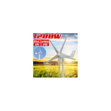12000W dc 12V / 24V Gerador de turbina eólica horizontal 5 lâminas Utilização de alta energia eólica Exterior / Aerogerador de vento doméstico
