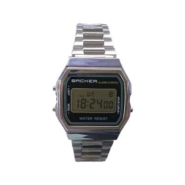 fce4c03f460 Relógio Masculino Backer Digital 15001453F - Prata