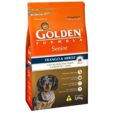 Ração Seca PremieR Pet Golden Formula Cães Sênior Mini Bits Frango e Arroz - 3 Kg
