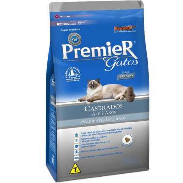 Ração Premier Pet Ambientes Internos Gatos Castrados Até 7 Anos Frango - 1,5 Kg