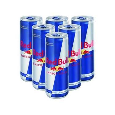 Kit Energético Red Bull 250ml 6 Unidades