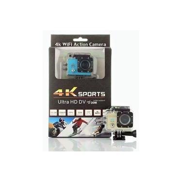 Imagem de Filmadora Camera de capacete e esportes de ação 4k 16mpx Ultra HD com diversos suportes e equipamentos.