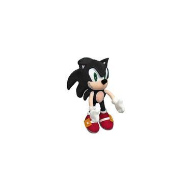 Imagem de Pelúcia Boneco Ouriço Fofinho Coleção Tipo Turma Do Sonic preto