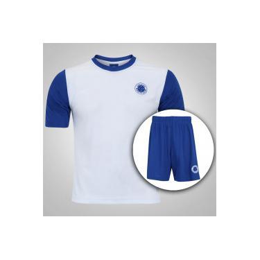 Kit de Uniforme de Futebol do Cruzeiro com Calção e Camisa Estrelas -  Infantil - BRANCO 965039b3c9274