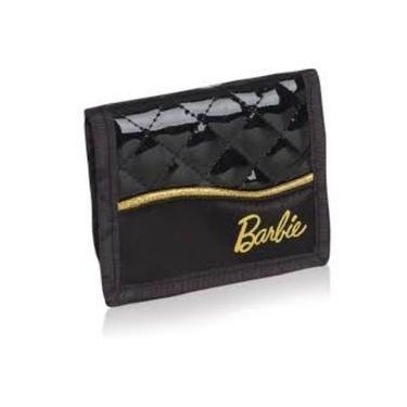 Carteira Barbie Preta Dourada Sestini