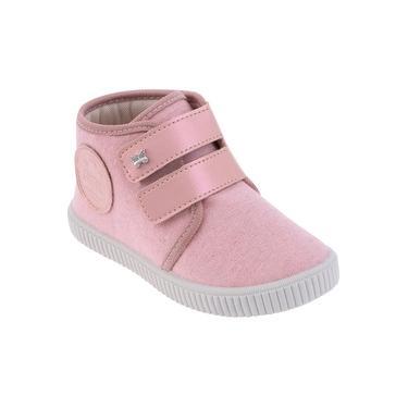 Bota Pimpolho Menina - Cano Baixo - Rosa/Branco