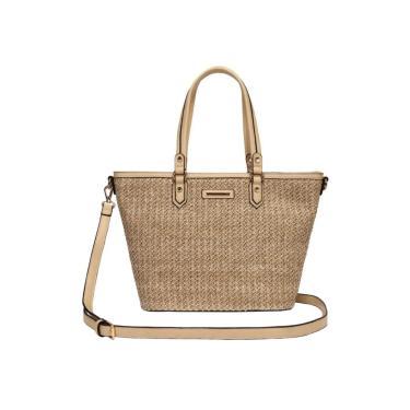 Bolsa Feminina Shopping Bag - Palha - WJ Dourado  feminino