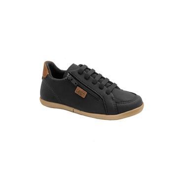 Sapato Infantil Klin Flyer 168 Preto/Caramelo