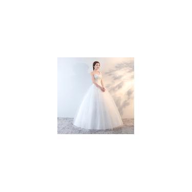 Imagem de Vestido de noiva longo branco Tubo superior Alto conforto Vestido de princesa N01