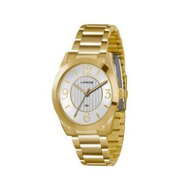 Relógio Feminino Analógico Lince Pulseira em Aço 30M LRGK040L S2KX - Dourado 3534ff22b5