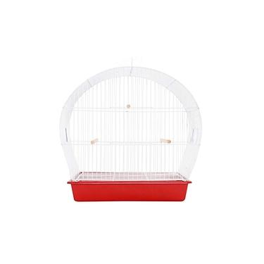 Gaiola para Pássaros Arco Top Master Vermelha Monaco